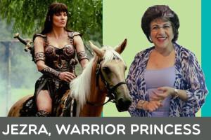 My Public Speaking Avatar, Jezra Warrior Princess, helps me be my super speaking self!
