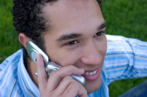 young man on phone, smiling (1410581)